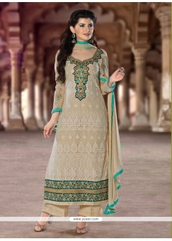 Alluring Lace Work Designer Pakistani Suit