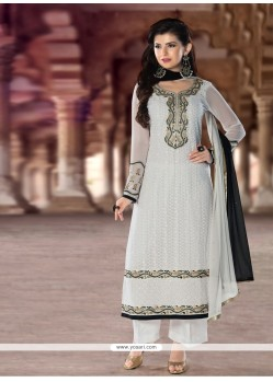Pleasance Georgette Resham Work Designer Pakistani Suit
