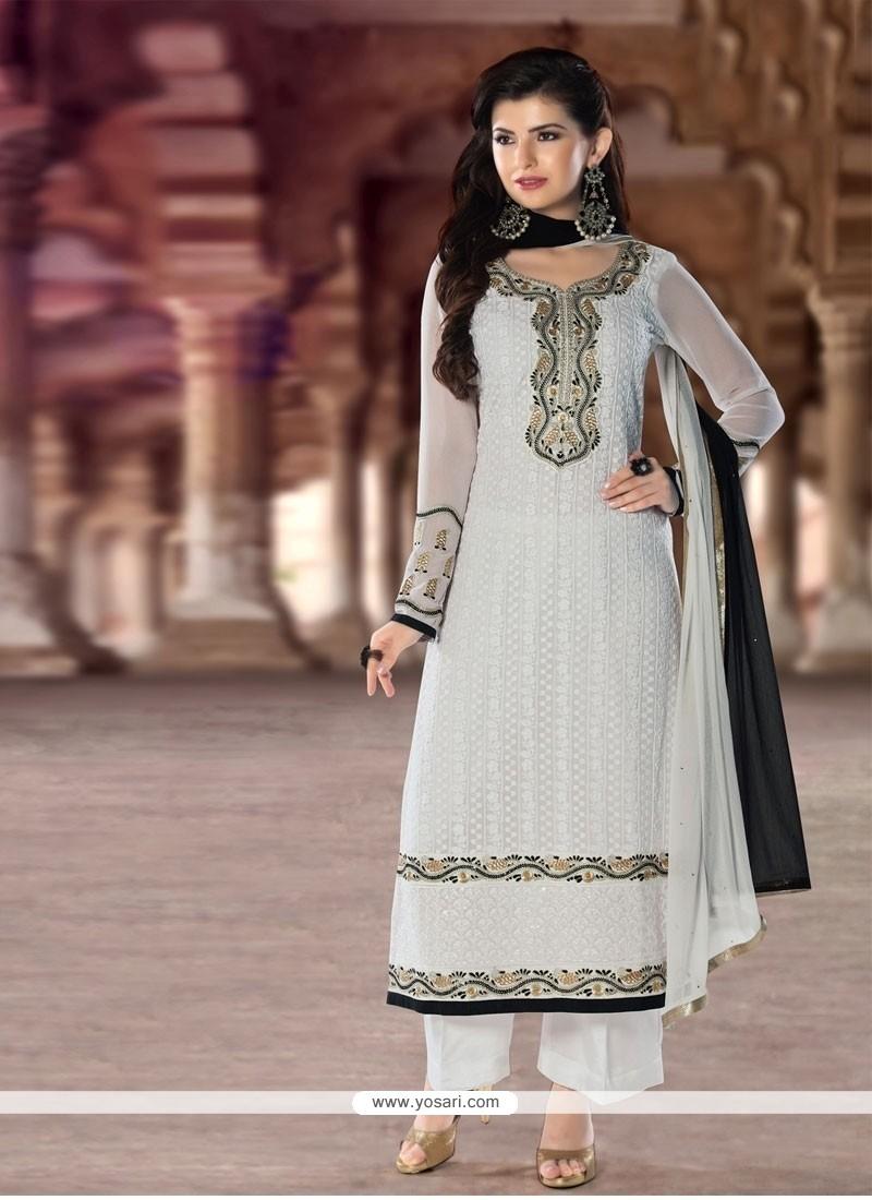 Pleasance Georgette Resham Work Designer Pakistani Suit