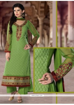 Intriguing Georgette Resham Work Designer Pakistani Suit