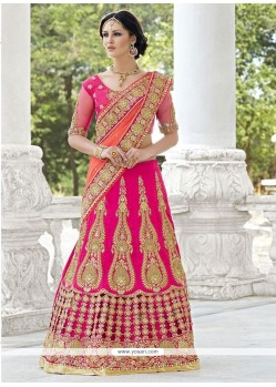 Magnificent Zari Work Net A Line Lehenga Choli