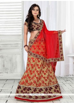 Princely Net Patch Border Work A Line Lehenga Choli