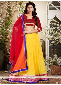 Elegant Yellow Georgette Lehenga Choli