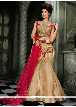 Lordly Lace Work Net A Line Lehenga Choli