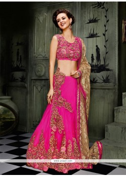 Lovely Resham Work A Line Lehenga Choli
