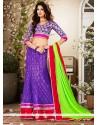 Charming Violet Net Lehenga Choli
