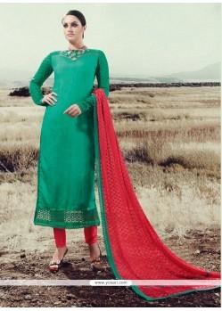 Magnetic Silk Designer Straight Salwar Kameez