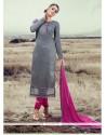 Attractive Silk Designer Straight Salwar Suit