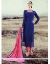 Exquisite Lace Work Designer Straight Salwar Kameez
