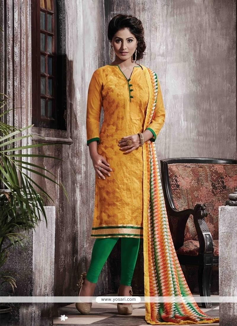 Magnetize Chanderi Designer Straight Salwar Suit