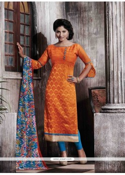Remarkable Print Work Designer Straight Salwar Kameez