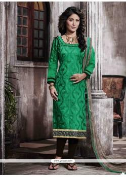 Divine Chanderi Print Work Designer Straight Salwar Suit