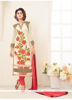 Delightful Georgette Designer Straight Salwar Kameez
