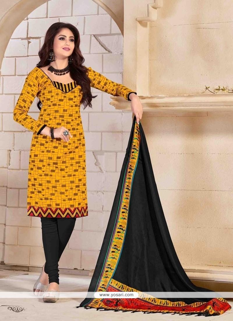 Prime Print Work Banglori Silk Churidar Salwar Suit