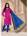 Mod Print Work Banglori Silk Churidar Salwar Suit