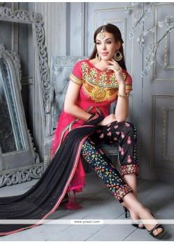 Modish Georgette Zari Work Pant Style Suit