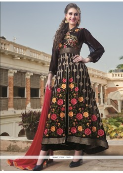 Cute Embroidered Work Georgette Designer Salwar Kameez