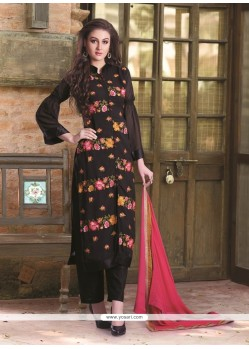 Breathtaking Georgette Black Designer Pakistani Suit