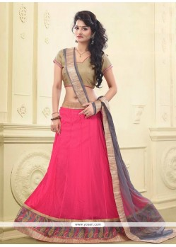 Majesty Net Hot Pink A Line Lehenga Choli