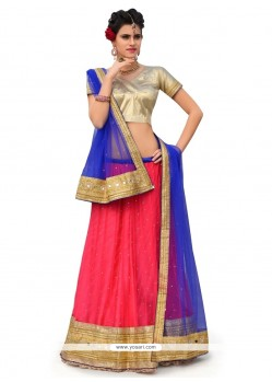 Spectacular A Line Lehenga Choli For Ceremonial