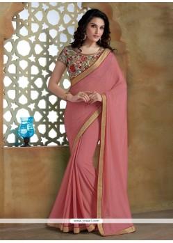 Exceptional Georgette Pink Designer Saree