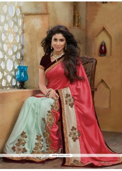 Modern Satin Zari Work Designer Saree