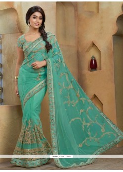 Remarkable Zari Work Net Designer Saree