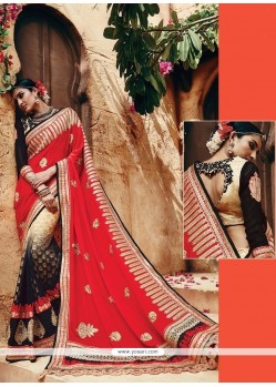 Astonishing Patch Border Work Classic Designer Saree