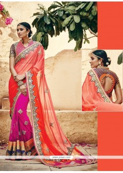 Sparkling Georgette Embroidered Work Classic Designer Saree