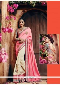 Exceptional Pink Classic Designer Saree