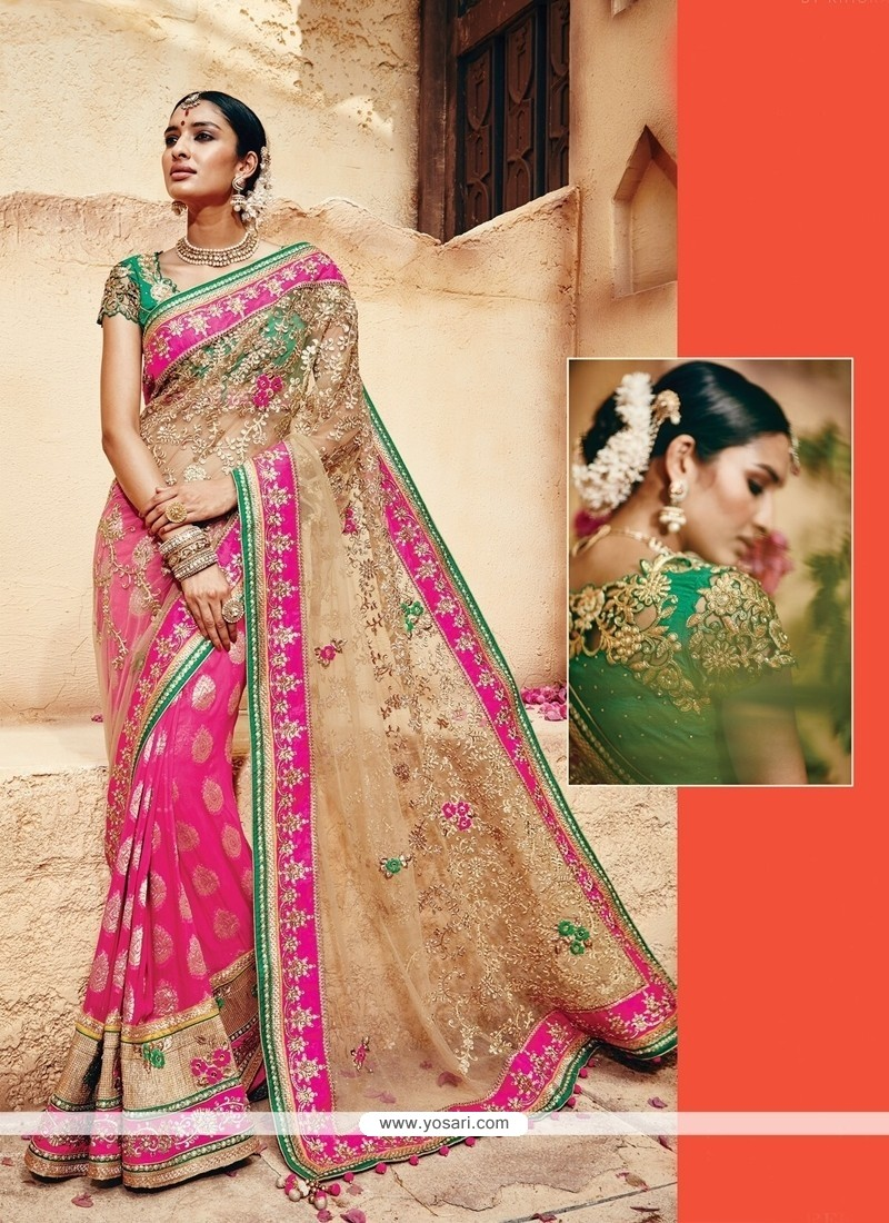Beautiful Banarasi Silk Embroidered Work Classic Designer Saree