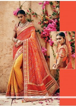 Precious Banarasi Silk Patch Border Work Classic Designer Saree