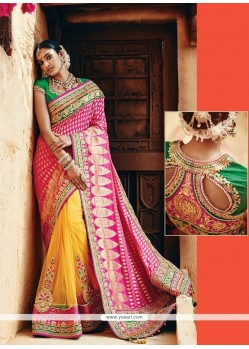 Observable Banarasi Silk Patch Border Work Classic Designer Saree