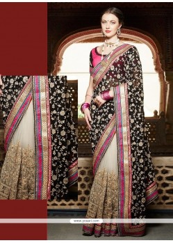 Exceeding Black Net Designer Saree