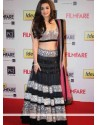 Aalia Bhatt Hot Black Lehenga Choli