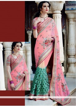 Groovy Pink Designer Saree