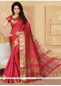 Preferable Banarasi Silk Patch Border Work Designer Saree