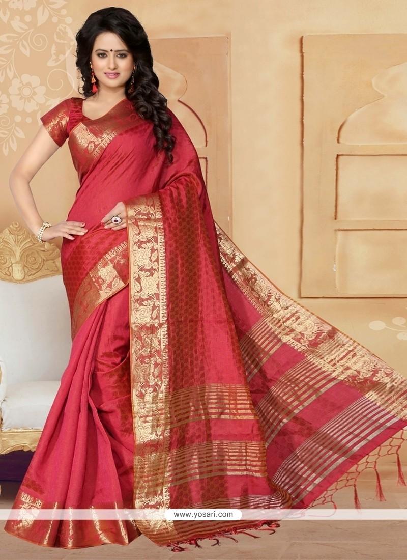 Preferable Banarasi Silk Patch Border Work Designer Saree