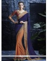 Angelic Faux Chiffon Patch Border Work Designer Saree