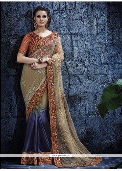 Exotic Faux Georgette Designer Saree