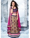 Jazz Beige Heavy Embroidered Velvet Lehenga Choli