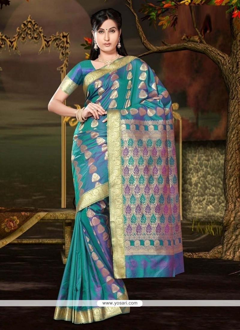Capricious Art Silk Lace Work Casual Saree