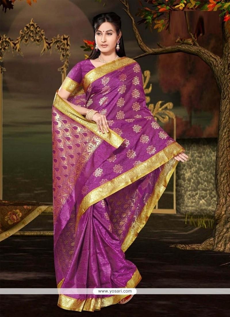 Flamboyant Magenta Casual Saree