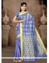 Ideal Art Silk Lace Work Casual Saree