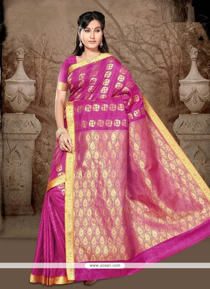 Debonair Hot Pink Casual Saree