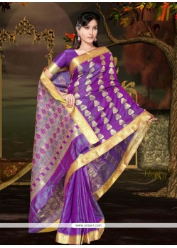 Dilettante Art Silk Casual Saree