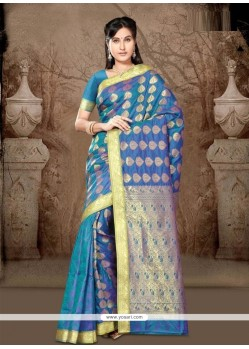 Chic Blue Casual Saree