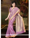Sterling Multi Colour Lace Work Art Silk Casual Saree