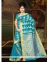 Charismatic Lace Work Art Silk Casual Saree