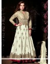 Excellent Zari Work Off White Net Anarkali Salwar Suit